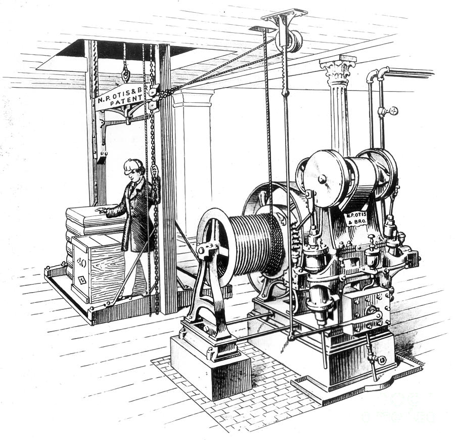 1862 Photograph - Elevator, 1862 by Granger