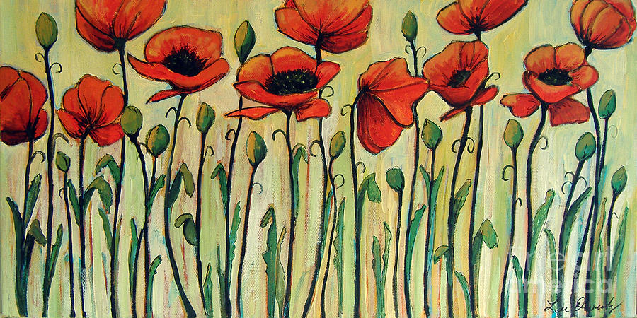 Eleven Red Poppies by Lee Owenby
