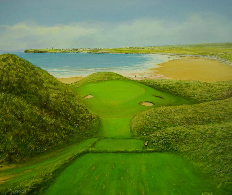 Golf Painting - Eleventh Hole Lahinch by Eamon Doyle