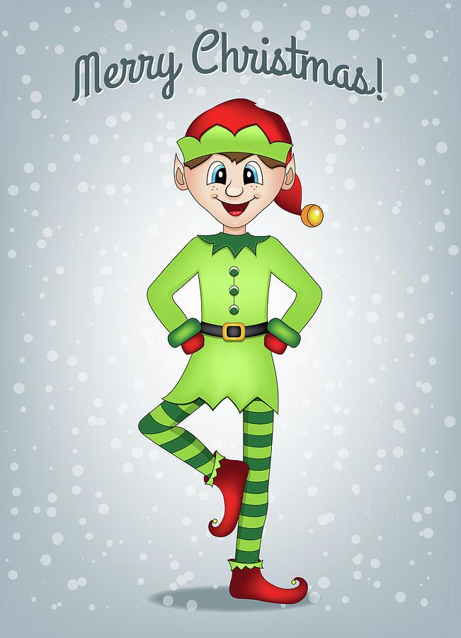 elf digital art elf christmas card by serena king - Elf Christmas Card