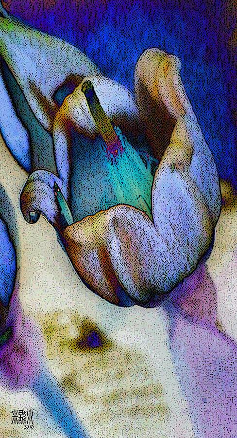Microscopic Digital Art - Elfin Blue by Michele Caporaso