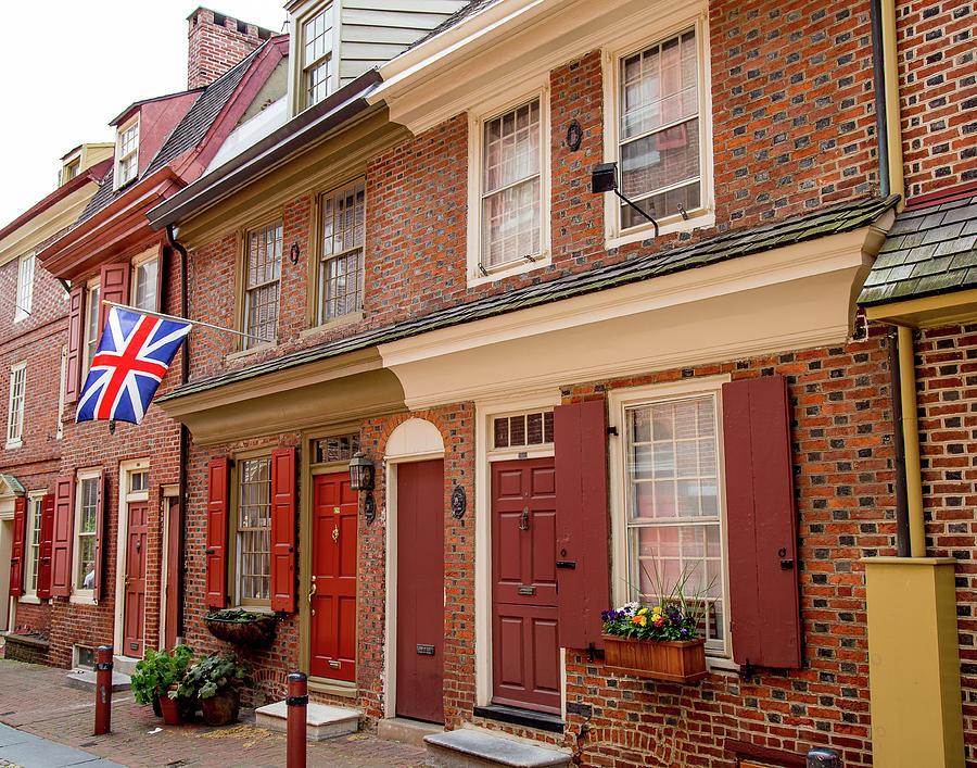 Elfreth's Alley Philadelphia Pa.  by John A Megaw