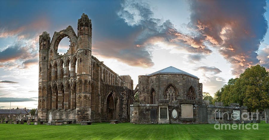 Elgin Photograph - Elgin Cathedral by Jane Rix