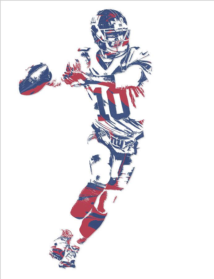 Eli Manning New York Giants Pixel Art 10 Mixed Media By