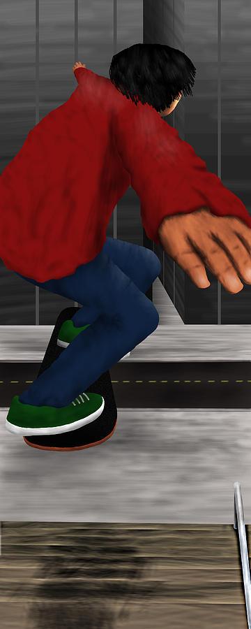 Skateboard Digital Art - Elian by Chris Paniati