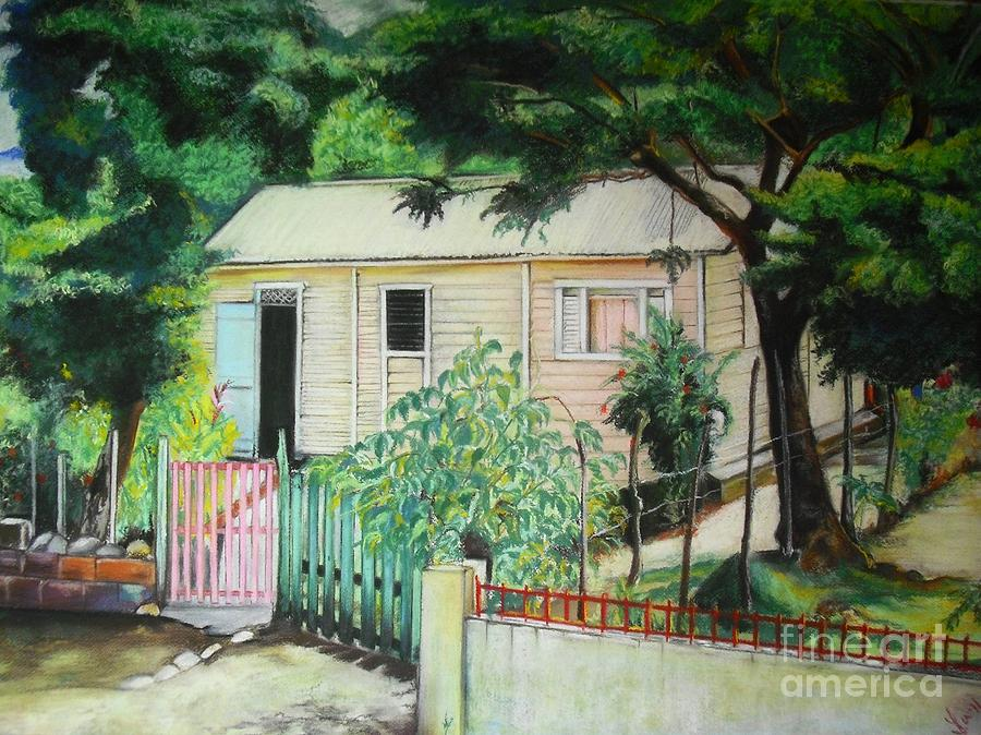 Pastels Drawing - Elida House by Yxia Olivares