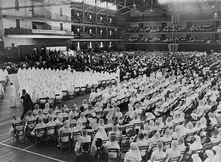History Photograph - Elijah Muhammad Addressing An Assembly by Everett