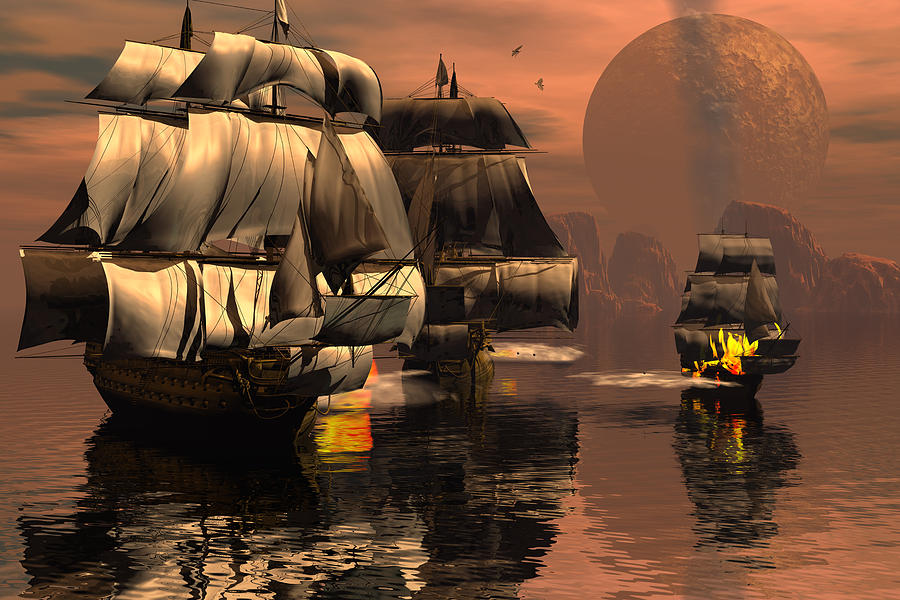Eliminating The Pirates Digital Art by Claude McCoy