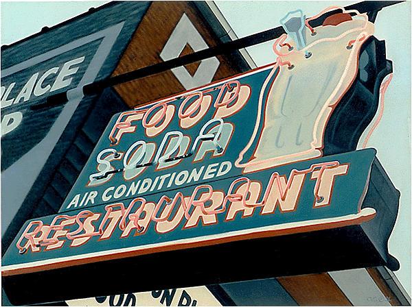 Sign Painting - Elington Place Restaurant by Van Cordle