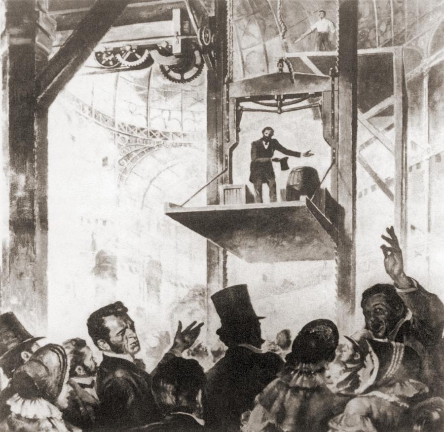 History Photograph - Elisha Graves Otis 1811-1861 by Everett