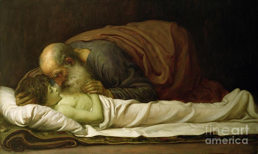 Elisha Painting - Elisha Raising The Son Of The Shunamite by Frederic Leighton