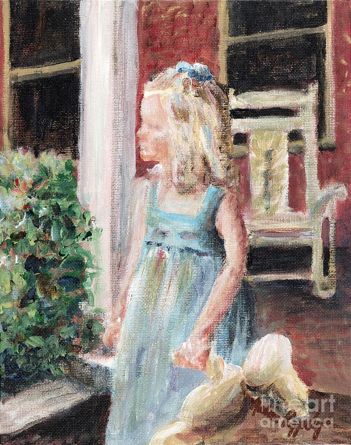 Girl Painting - Elizabeth Anne by Nadine Rippelmeyer