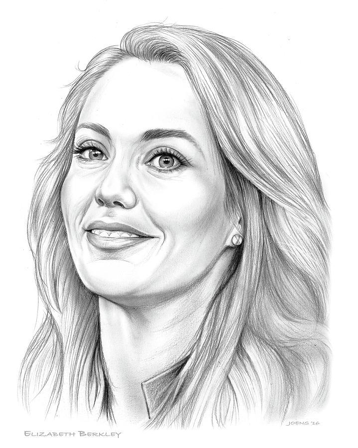American Drawing - Elizabeth Berkley by Greg Joens