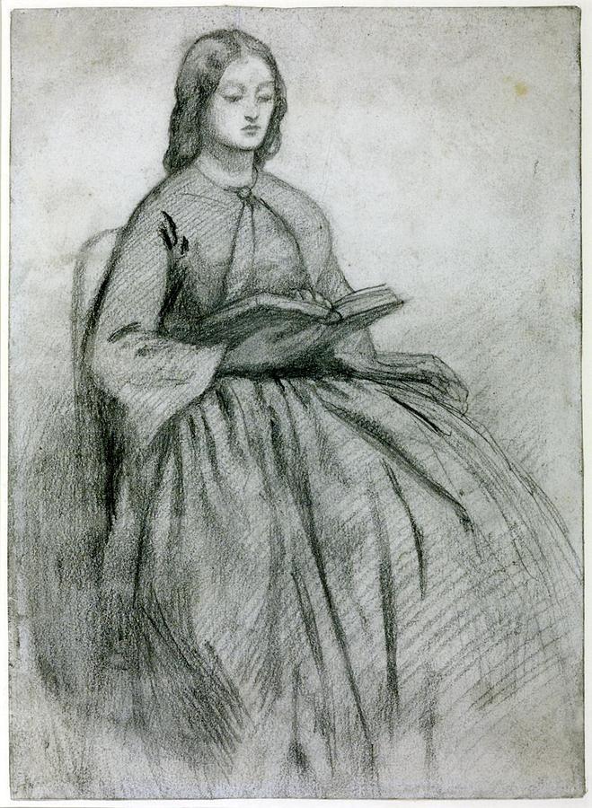 Woman Painting - Elizabeth Siddall In A Chair by Gabriel Rossetti