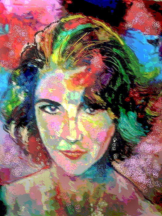 Oil Painting Painting - Elizabeth Taylor by Leland Castro