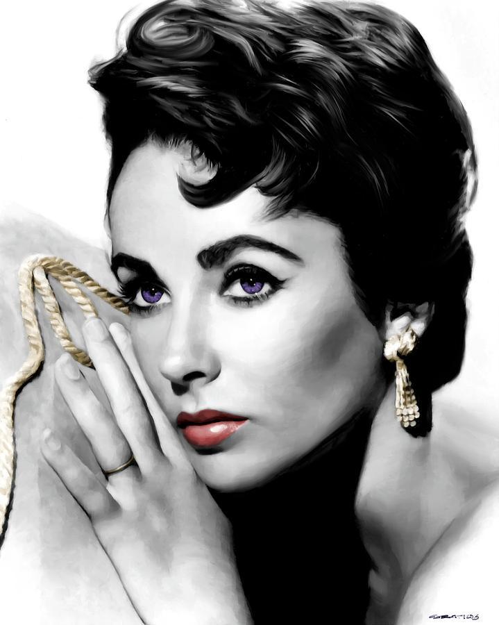 Elizabeth Taylor Digital Art - Elizabeth Taylor Portrait by Gabriel T Toro