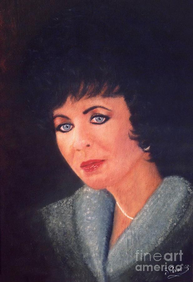 Original Painting - Elizabeth Taylor Portrait by Liam O Conaire