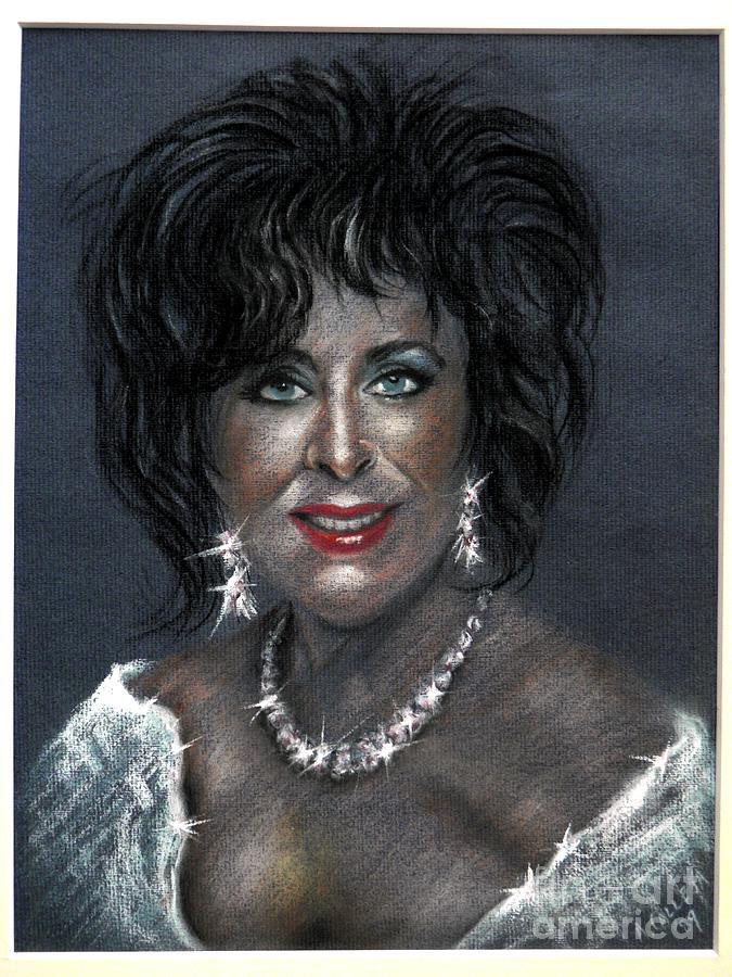 Elizabeth Taylor Pastel by Tony Calleja