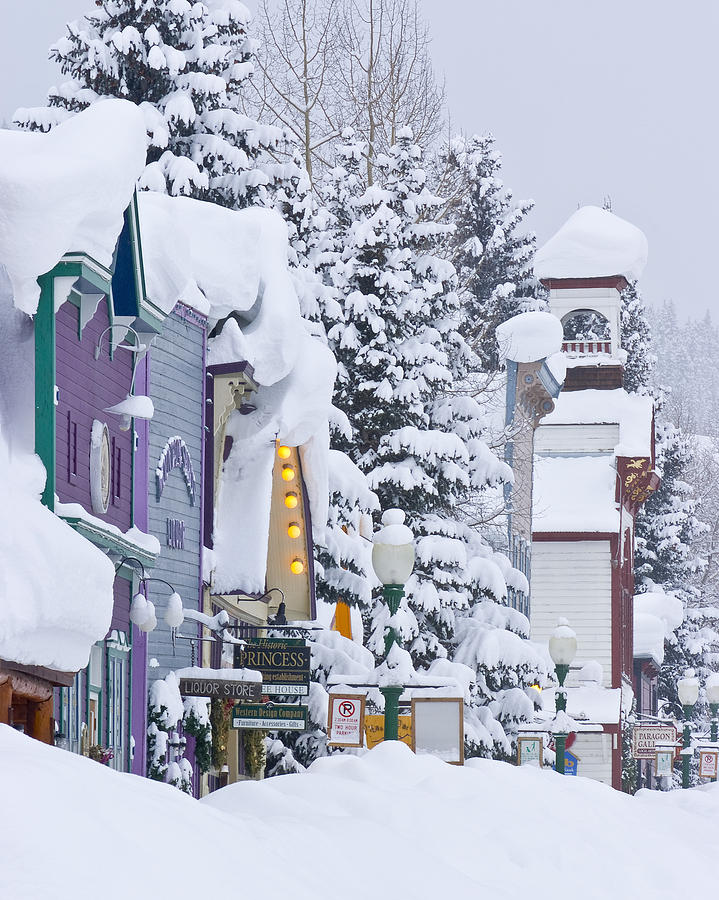 Dusty Demerson Photograph - Elk Avenue Snow by Dusty Demerson