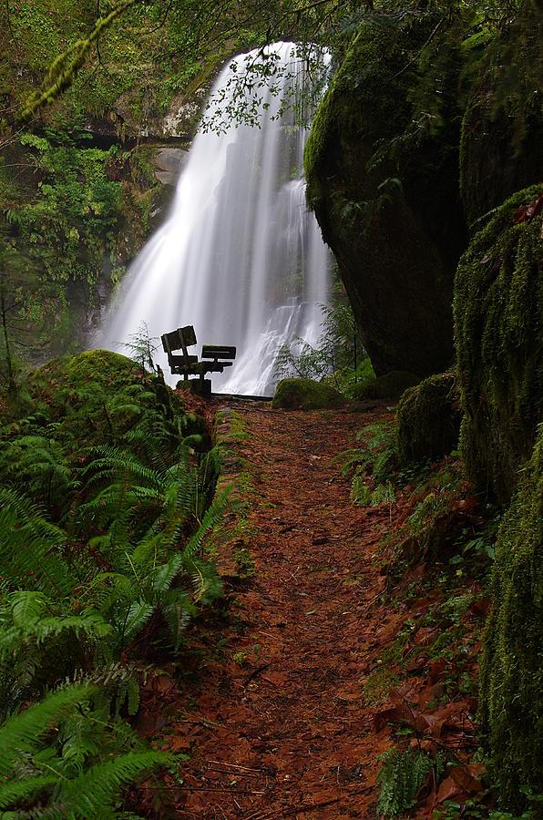 Elk Creek Falls Viewpoint 2 by Ken Dietz