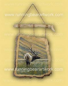 Bull Elk Painting - Elk Meadow by Michael Meissner