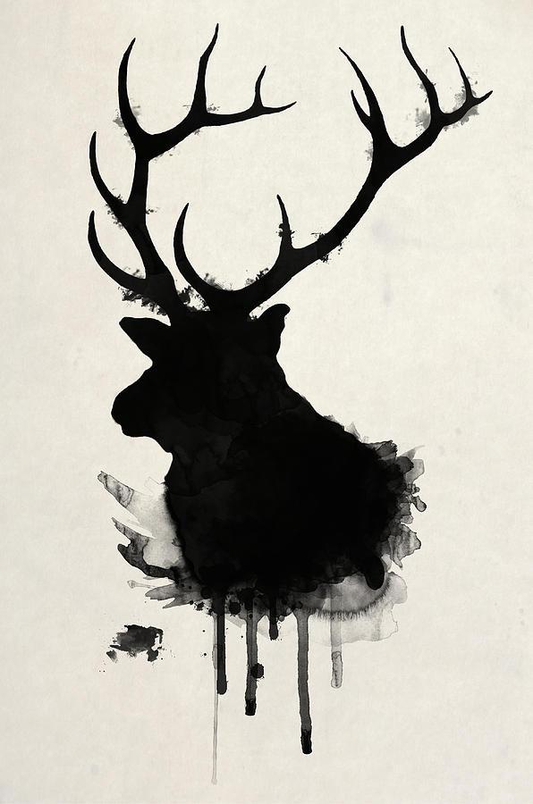 Elk Drawing - Elk by Nicklas Gustafsson