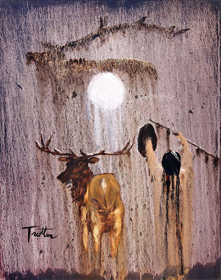 Paintings Painting - Elk Spirit by Patrick Trotter