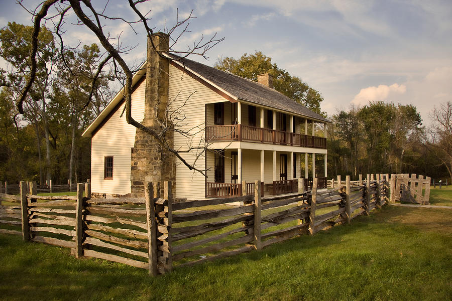Arkansas Photograph - Elkhorn Tavern by Lana Trussell