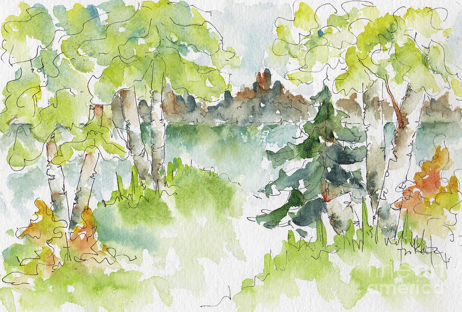 Impressionism Painting - Elkridge Greens by Pat Katz