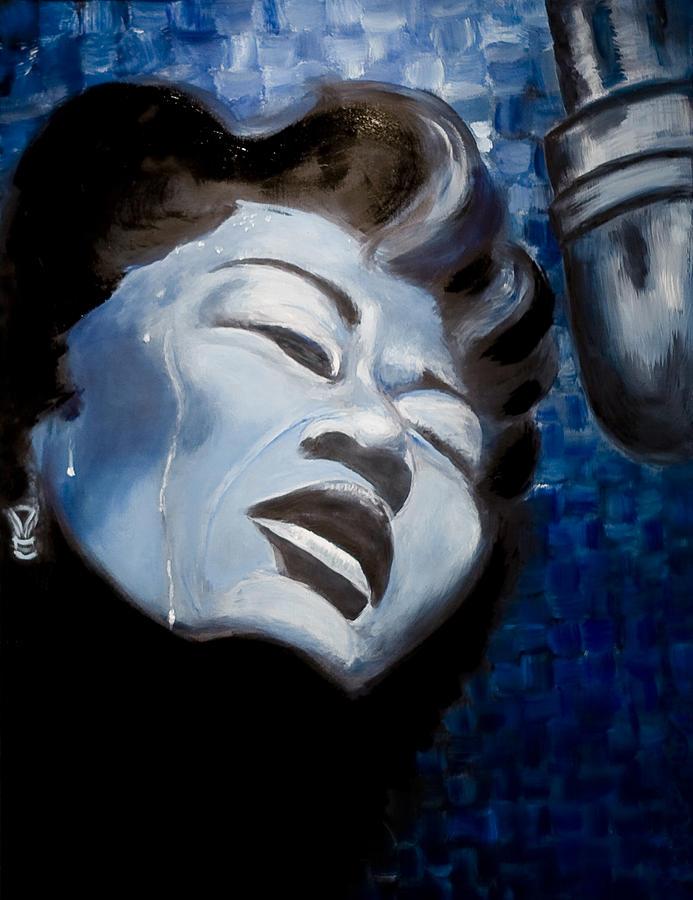 Ella Fitzgerald Painting - Ella by Tabetha Landt-Hastings