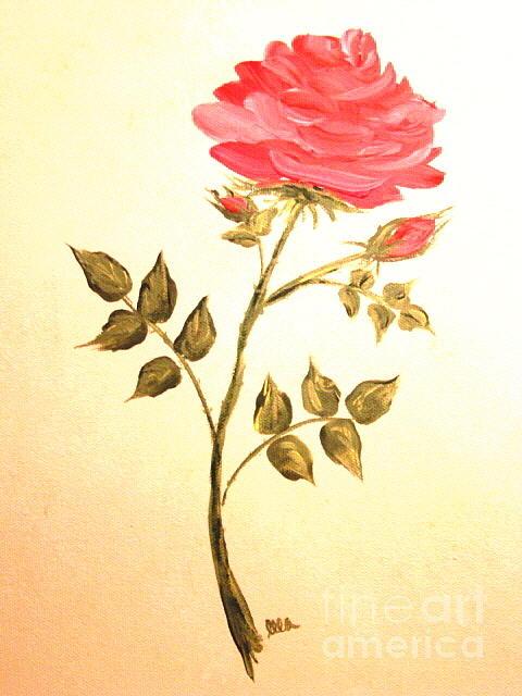Rose Painting - Ellas Rose by Leea Baltes