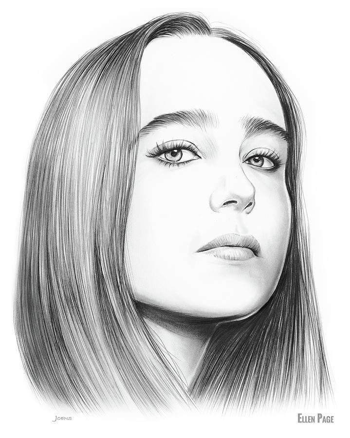 Ellen Page Drawing