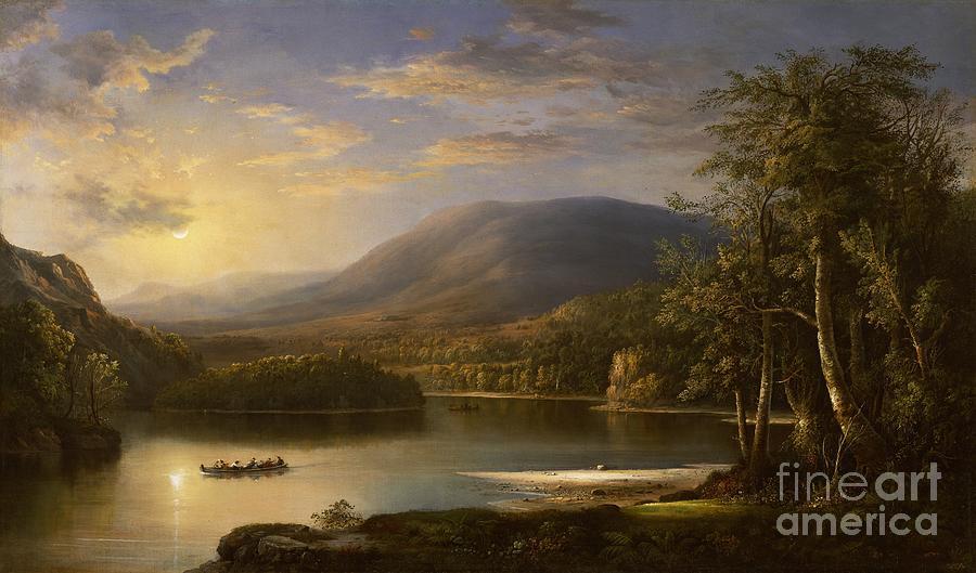 Ellen Painting - Ellens Isle - Loch Katrine by Robert Scott Duncanson
