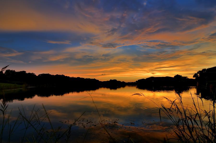Ellenton Lake Sunset 02 by Jonathan Sabin