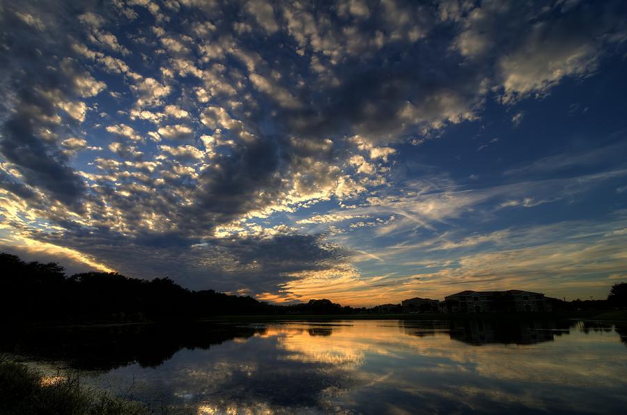 Ellenton Lake Sunset 04 by Jonathan Sabin
