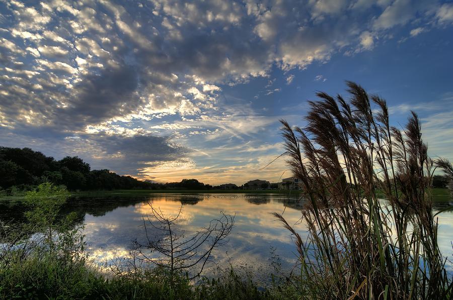 Sunset Photograph - Ellenton Lake Sunset 05 by Jonathan Sabin