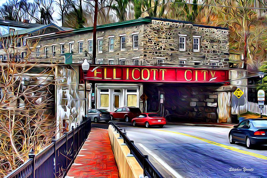 Ellicott Digital Art - Ellicott City by Stephen Younts