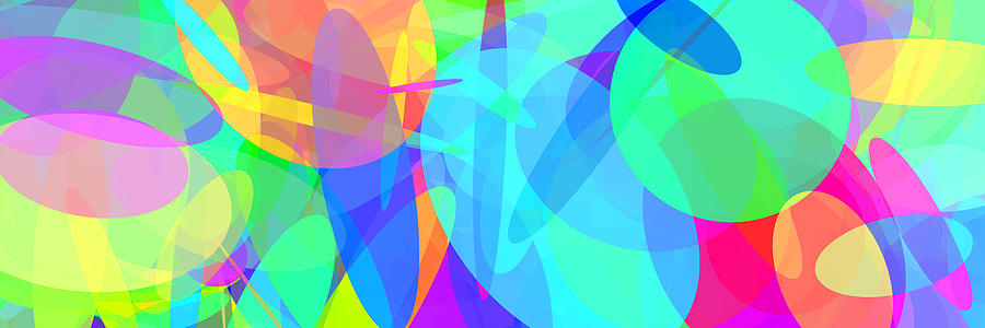 Ellipse Digital Art - Ellipses 7 by Chris Butler