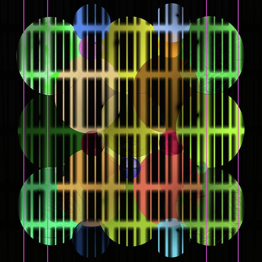 Abstract Digital Art - Ellipses Spheres Segmented by SC Heffner