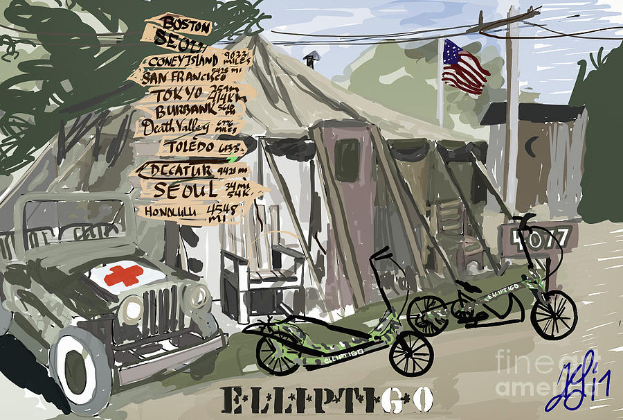 Elliptigo  in the Army by Francois Lamothe