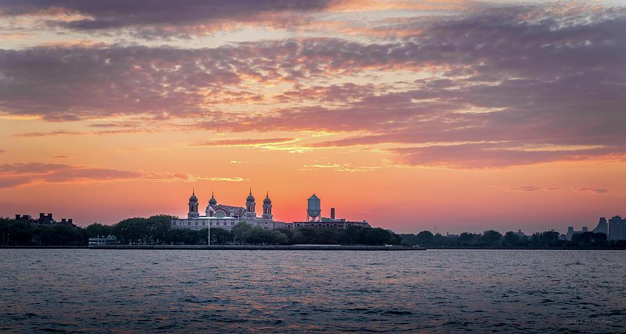 Ellis Island at Sunset by Frank Mari