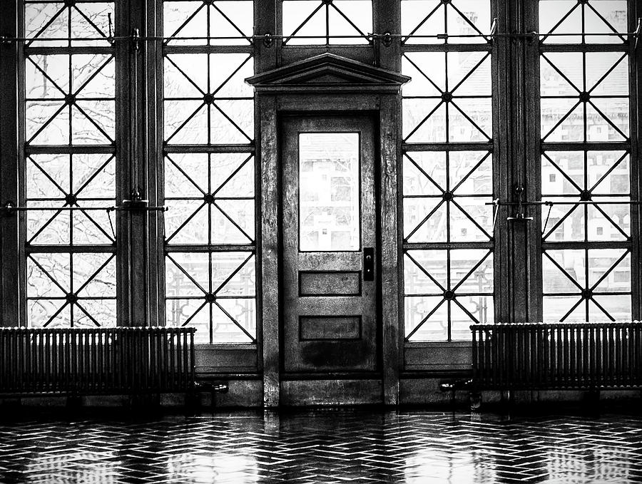 Ellis Photograph - Ellis Island Great Hall Door by Bill Cannon & Ellis Island Great Hall Door Photograph by Bill Cannon