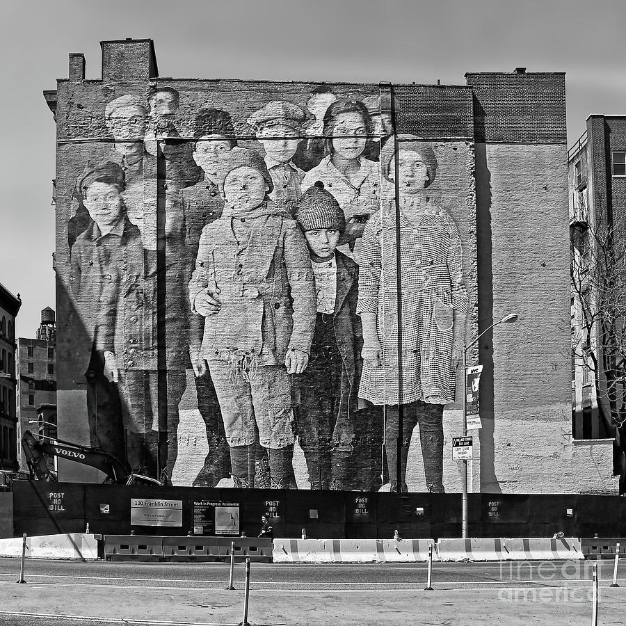 Ellis Island Immigrant Children Mural Tribeca 2 Photograph