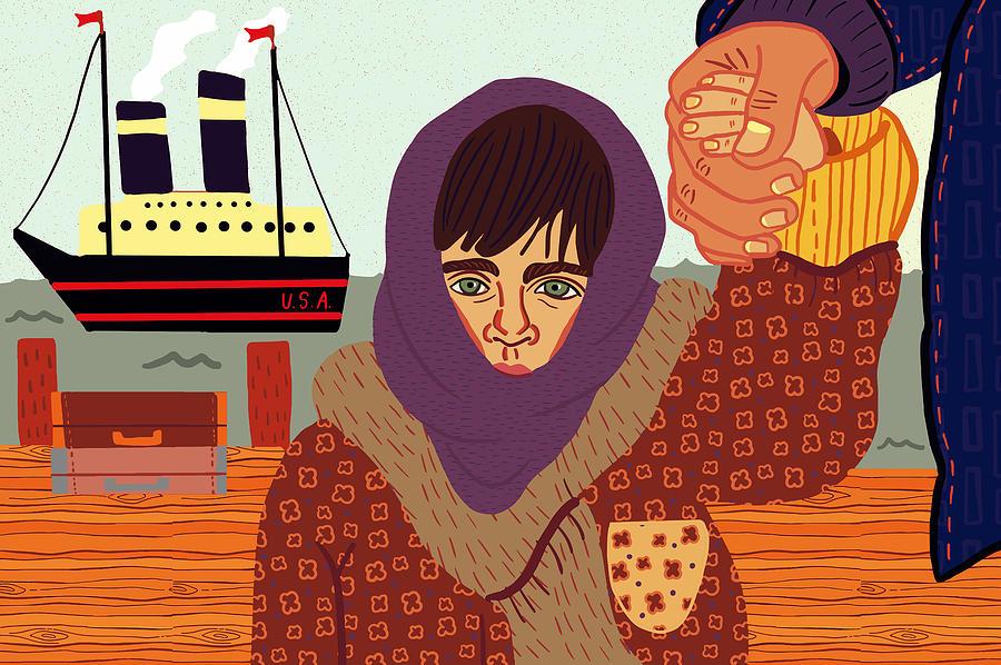 Immigrant Digital Art - Ellis Island by Nicole Wilson