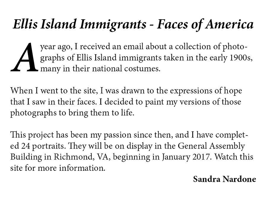 Ellis Island Project by Sandra Nardone