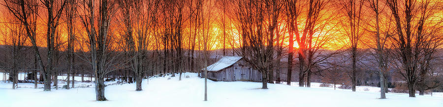 Ellsworth Barn Sunset by John Vose