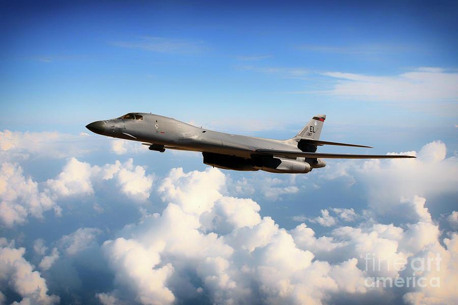 B1 Digital Art - Ellsworth Bone by Airpower Art
