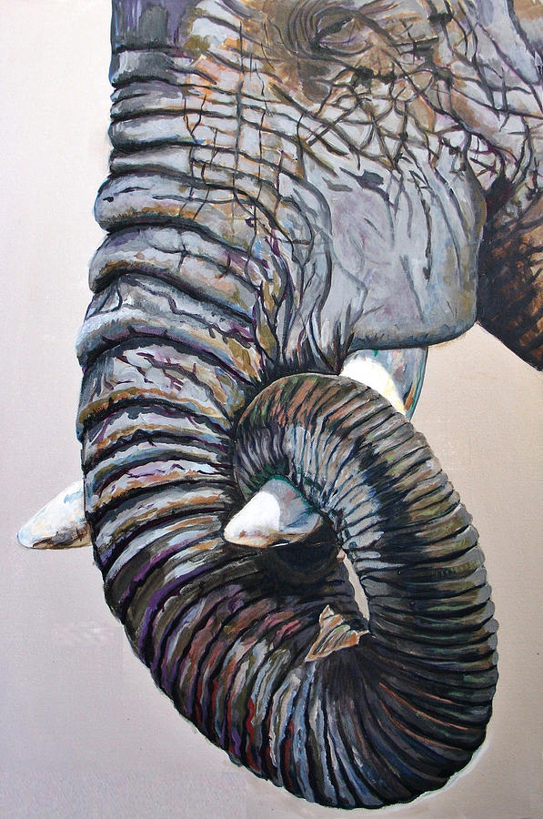 Elephant Painting - Elly by Jacqui Simpson