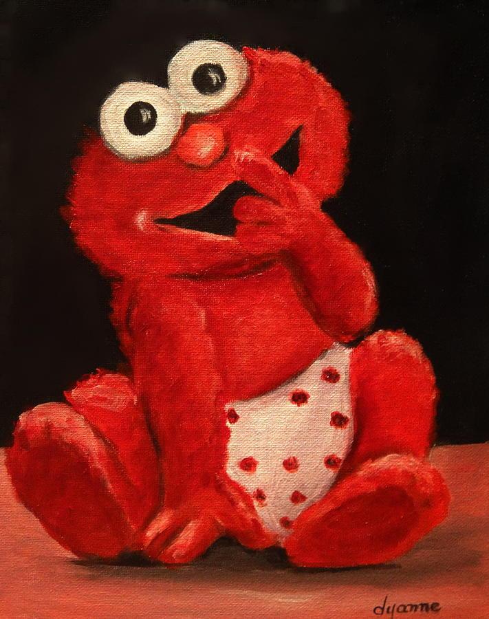 Elmo Portrait Painting by Dyanne Parker