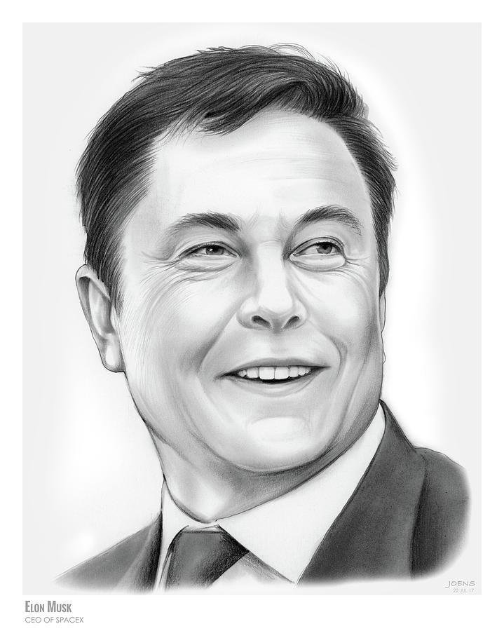 Elon Musk Drawing